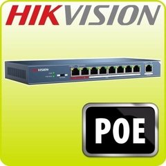 Switch 8 Puertos Poe Hikvision Ds-3e0109p-e