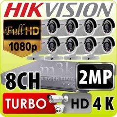 Kit Seguridad Hikvision Full Hd 1080p Dvr 8 + 8 Camaras 2 Mp
