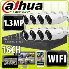 Kit Ip Seguridad Dahua Nvr Inalambrica 16 + 8 Camaras Wifi