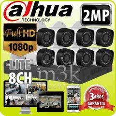 Kit Seguridad Dahua Dvr 8 + 8 Camaras Full Hd 1080p  2mp P2p