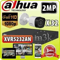 Kit Seguridad Dahua Dvr 32 Full Hd 1080p + 32 Camaras 2mp