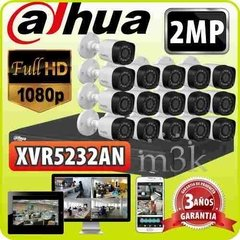 Kit Seguridad Dahua Dvr 32 Full Hd 1080p + 16 Camaras 2mp