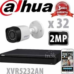 Kit Seguridad Dahua Dvr 32 Full Hd 1080p + 32 Camaras 2mp - M3K ARGENTINA