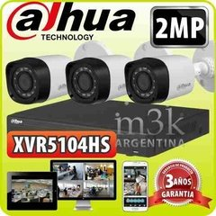 Kit Seguridad Dahua Dvr Full Hd 1080p 4 +3 Camaras 2mp P2p