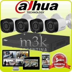 Kit Seguridad Dahua Dvr 4 + 4 Camaras Hd Exterior Cctv Ip 66
