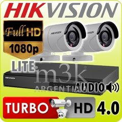 Kit Seguridad Hikvision Dvr 4 + 2 Camaras Hd Exterior Ip 66