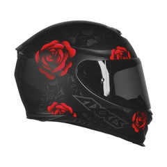 AXXIS EAGLE FLOWERS MATT BLACK-RED