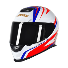 AXXIS EAGLE HYBRID WHITE-BLUE-RED (TAM. 56) - RACEBOX