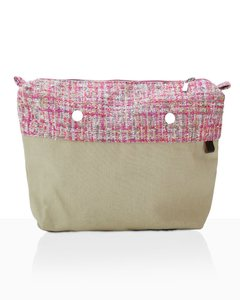 BOLSA INTERIOR JOIN! HANDBAGS TEJIDO ROSA