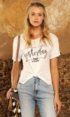 T-shirt Recorte Lateral Estampa Frase - ref. 16226