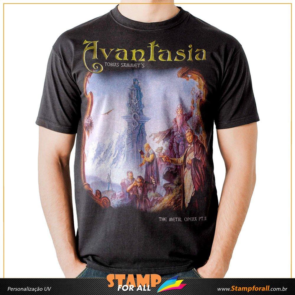 bdcd259c54 Camiseta Avantasia Metal Opera Part II Tobias Sammet Michael Kiske Stamp for  All
