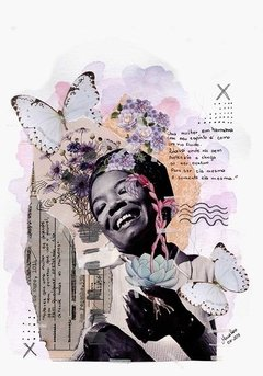 poster colagem manual maya angelou cartaz