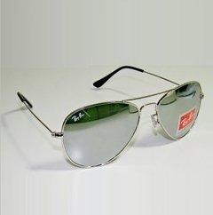 9a16a7c0b Óculos Ray Ban Aviador Prata Espelhado