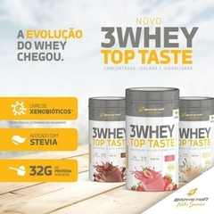 3 WHEY TOP TASTE (900G) BODY ACTION - Cabral Suplementos