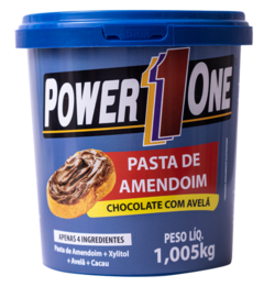 PASTA DE AMENDOIM CHOCOLATE COM AVELÃ (1,005KG) - POWER ONE