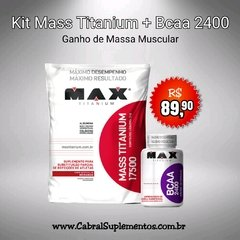 KIT MASS TITANIUM + BCAA 2400