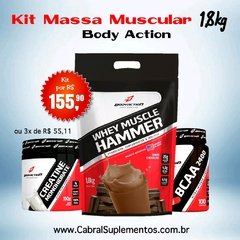 KIT MASSA MUSCULAR 1,8KG BODY ACTION
