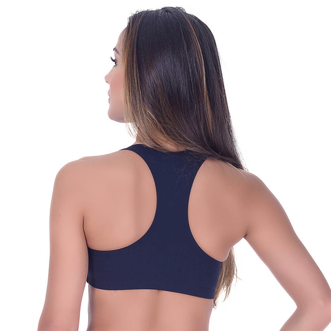 Top Fitness sem Bojo Preto Summer Soul