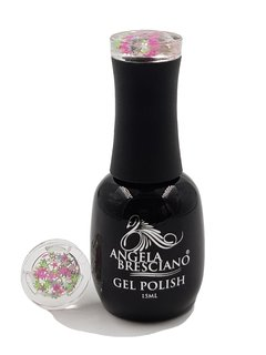 GEL POLISH ANGELA BRESCIANO COLOR ESTRELLITAS ROSA-PLATA