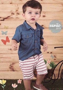 Camisa Jeans - Baby Boy Boutique