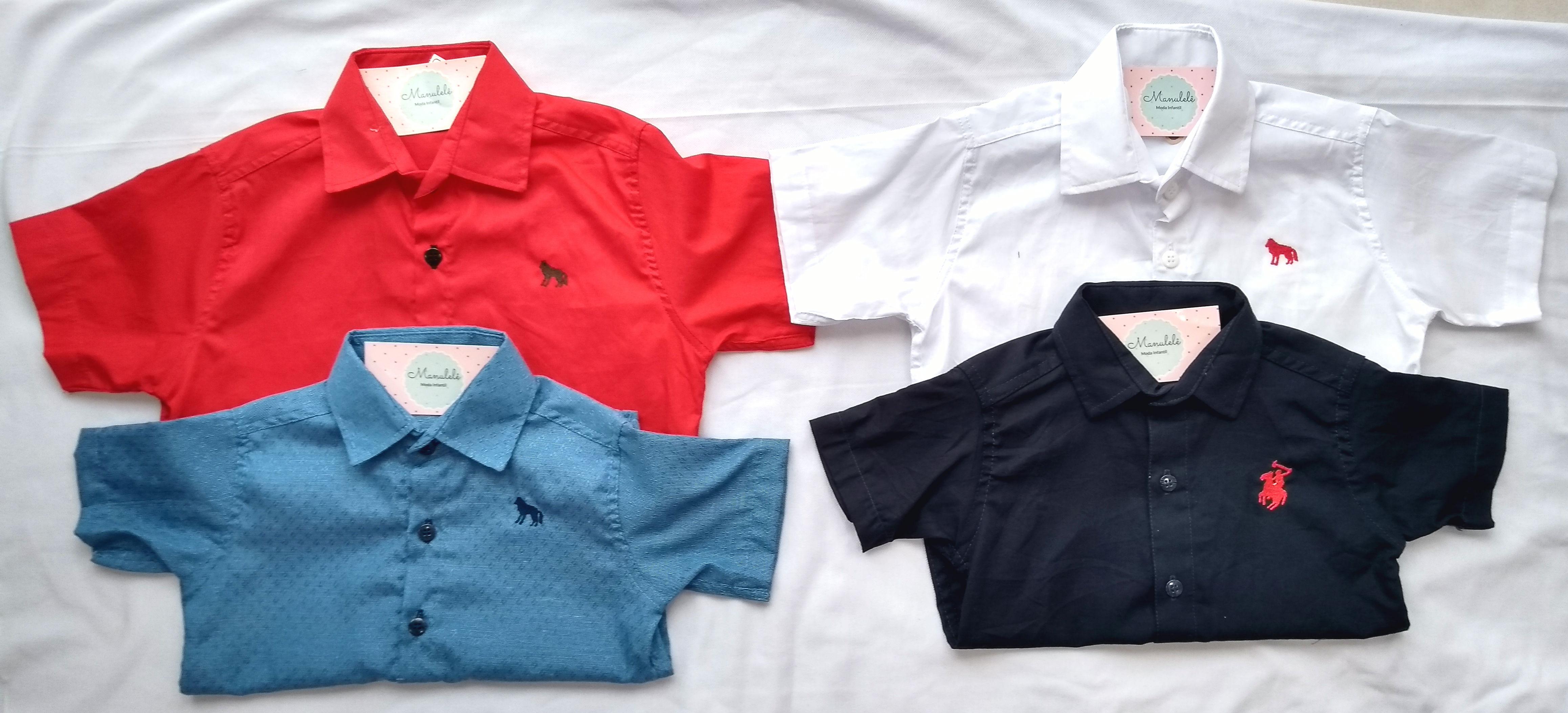 Camisa social infantilmasculina