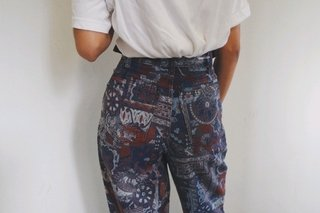 Mom jeans estampada N36 na internet