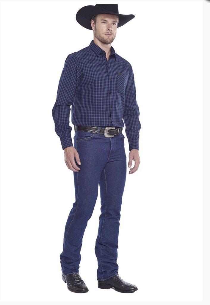 761f50f70ca6f Camisa Tassa M L Regular Azul - Ferreira Moda Country