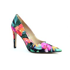 Scarpin estampado Tropical Show
