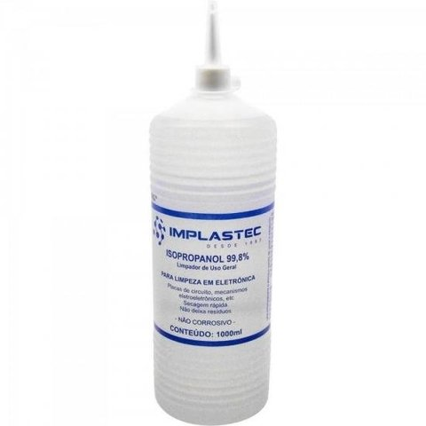 Álcool Isopropilíco 1000ML ISOPROPANOL Transparente IMPLASTE