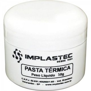 Pasta Termica 50g THERMAL SILVER Prata IMPLASTEC