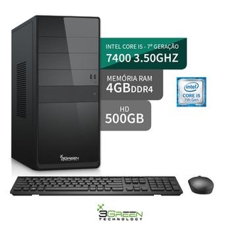Computador 3Green Intel Core I5 7400 4GB HD 500GB HDMI