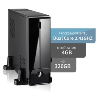 Computador Slim 3Green Intel Dual Core 4GB HD 320GB HDMI