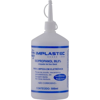 Álcool Isopropílico Implastec 500ml ISOPROPANOL