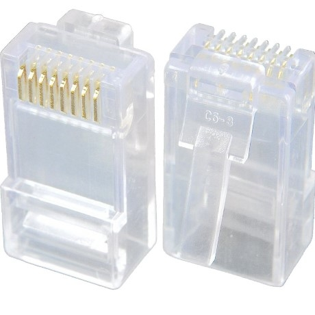 Conector Pluscable RJ45 8x8 Cat5e PC-CNRJ02