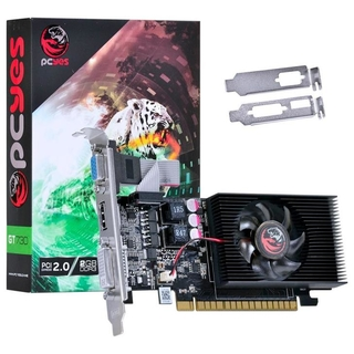 Placa de Vídeo PCYES NVIDIA GeForce GT 730 2GB, DDR3 - PW730GT12802D3LP