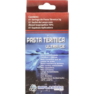 Pasta Térmica Implastec KIT ULTRA ICE 3G Branca