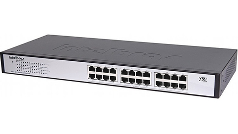 Switch Intelbras 24 portas Fast Ethernet SF 2400 QR+