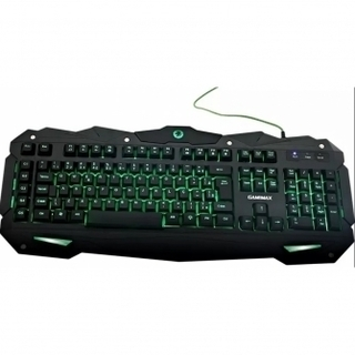 Teclado GameMax Gamer USB multimídia KG748 Preto/LED 3 CORES