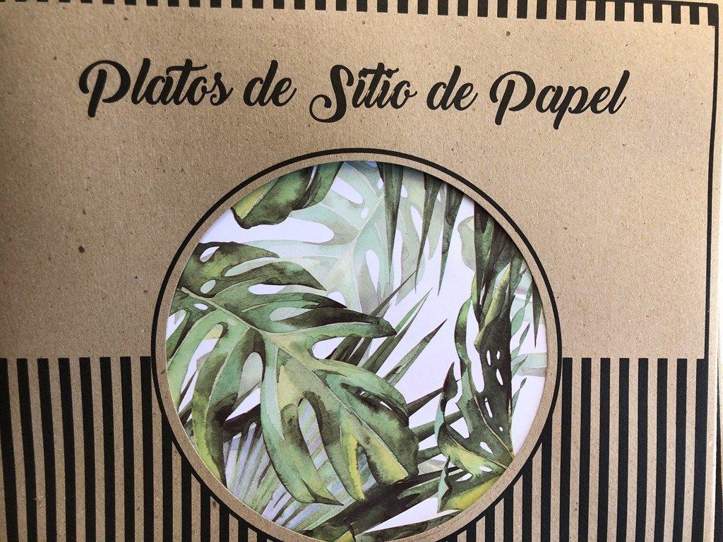 Platos de sitio o individuales de papel - Rancho Deco