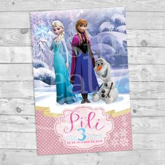 Cartel cumple Frozen