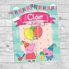 Cartel cumple Peppa Pig