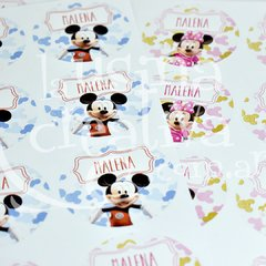Sticker circular 6cm - Mickey - x40
