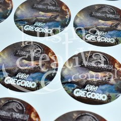 Sticker circular Jurassic World x40
