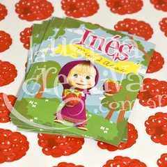Sticker rectangular Masha x36