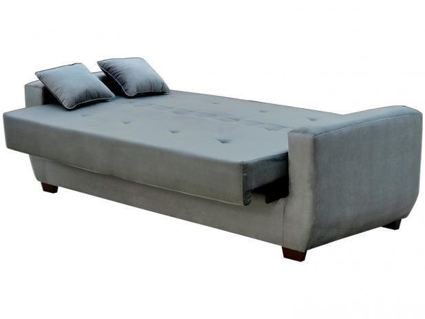 f05703efe Sofá-cama 4 Lugares Suede Reclinável - Matrix Roberta. 1