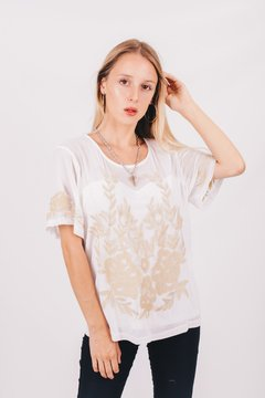 Blusa Bordada con Transparencias en internet
