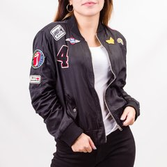 Campera Bomber con Parches