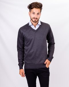 Sweater Cuello en V - Castellanas