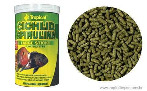 Ração Tropical Cichlid Spirulina Large Sticks - 300g