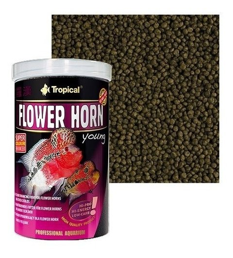 Ração Tropical Flower Horn Young Pellet 95g